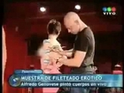Bodypainting de Fileteado erótico por Alfredo Genovese - Noticiero de Telefe · www.fileteado.com