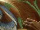 Bull painting con Fileteado Porteño por el maestro Alfredo Genovese · www.fileteado.com