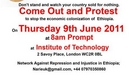 London: Come Out and Protest - Wondimu Mekonnen