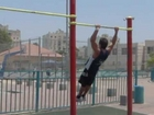 Muscle up - Jump over Bar street workout tutorial