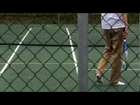 Schoolboy Playing Tennis in White Socks [UN-CROPPED]