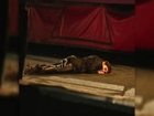 Gemma Arterton Lies Down on Byzantium Film Set