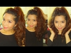 HAIR TUTORIAL: High Pony with Super Volumized Curls - saytiocoartillero