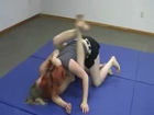 Cherry vs Ashley TUFF Female Wrestling Grappling in the Gym