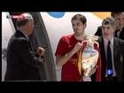 Eurocopa 2012: La selección española aterriza en Barajas