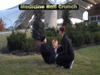 Knoxville Boot Camp Client - Medicine Ball Crunch