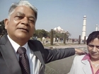 Hari & Aruna Sharma at Magnificiant Taj Mahal, Agra Jan 29, 2012 after 23 years