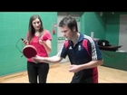 Heart News reporter takes on Andrew Baggaley at Table Tennis