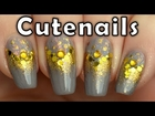Easy gold glitter gradient nail art tutorial for beginners by cutenails