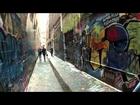 Steady Cam Views of Street Art - Union Lane, Melbourne