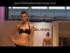 Jolidon 2012 Collection - Black Bandeau Swarovski Bikini