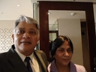 Hari & Aruna Sharma just arrived at Taj Palace Hotel New Delhi from Uppsala Dec 31, 2011