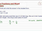 How to Divide Fractions and Mixed Numbers
