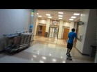 LONG BOARDING IN MY SCHOOLS GYM!!! (YTO: Day 324 - 6/14/12)