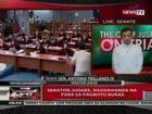 QRT: Senator-judges, naghahanda na para sa pagboto bukas