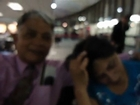 Hari & Aruna Sharma just landed at JFK Airport, New York USA on Feb 02, 2012
