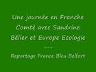 Journée de campagne de Sandrine Bélier en Franche Comté