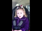3 YO Kenzie Laine Bracken singing in the car to Justin Bieber!