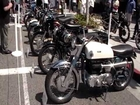 Vintage Motorcycles At A Show In Beverly Hills