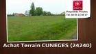 Vente - terrain - CUNEGES (24240)