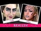 Results of Futuristic Inspired Makeup Challenge with Shay Mitchell