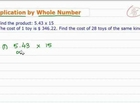 How to Multiply Decimals by Whole Numbers