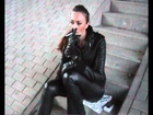 Bella 15 - Beautiful Girl Smoking in Full Leather Outfit