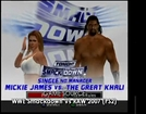SvR2007 (PS2) - Mickie James vs Great Khali