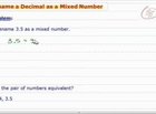 How to Convert Decimals to Mixed Numbers