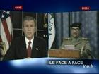 [Georges W.Bush et Saddam Hussein]
