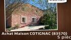 Vente - maison - COTIGNAC (83570)  - 16 290m²