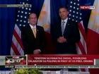 QRT: Tensyon sa Panatag Shoal, posibleng talakayin sa pulong ni PNoy at US Pres. Obama