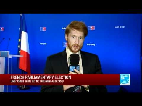 FRANCE 24's Luke Brown reports on runoff results from UMP HQ in Paris | PopScreen