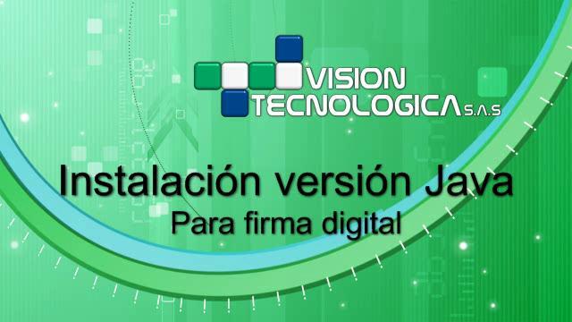 Instalación Versión Java para Firma Digital | PopScreen
