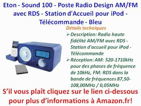 Eton - Sound 100 - Poste Radio Design AM/FM avec RDS - Station d'Accueil pour iPod | PopScreen