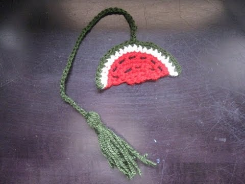 How to Crochet a Watermelon Book Marker