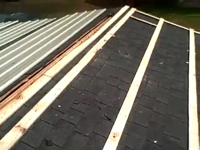 Installing Metal Roof Over Shingles : Roofing shingles installing metal over
