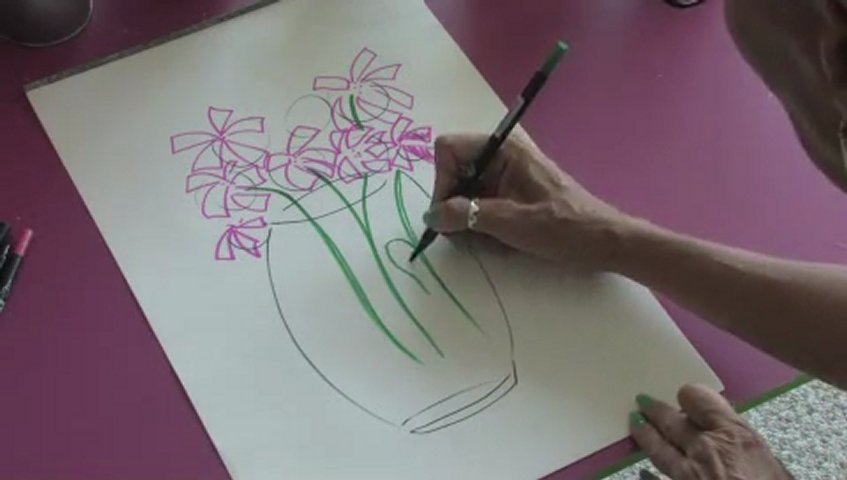 How to Draw Flowers Coming Out of a Vase   PopScreenSomeone Drawing A Flower