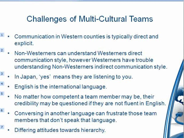 managing multicultural teams Working with multicultural virtual teams: critical factors for facilitation, satisfaction and success.