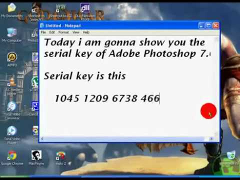 adobe photoshop 7 serial number