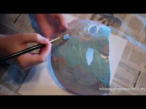 how to make a paper mache mask with flour