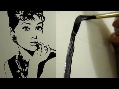 Audrey hepburn mural breakfast with acrylics popscreen for Audrey hepburn mural
