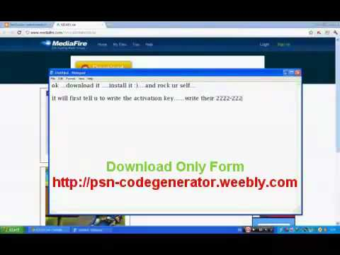 Free PSN Code Generator! January-2012 MediaFire DOWNLOAD WORK 100 | PopScreen