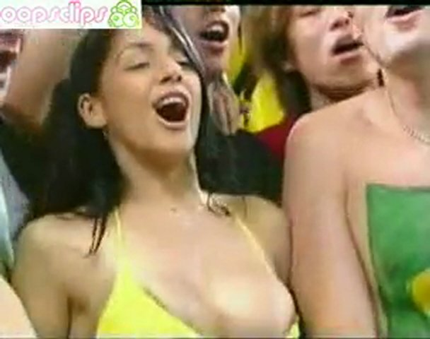 Beautiful Brazil: Soccer Babe's Nipple Slip | PopScreen