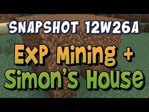 Mining Experience & Simon's House - Snapshot 12w26a | PopScreen