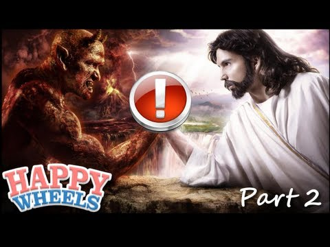 Let's Play Happy Wheels - Part 2 (JESUS BROKE MY GAME D:) | PopScreen