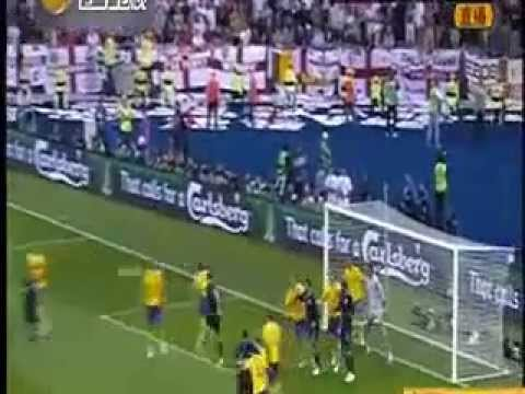 2012.06.16 England D&A Sweden. Walcott! Missile! Attack goal | PopScreen