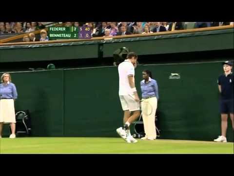 Roger Federer vs Julien Benneteau Wimbledon 2012 | PopScreen