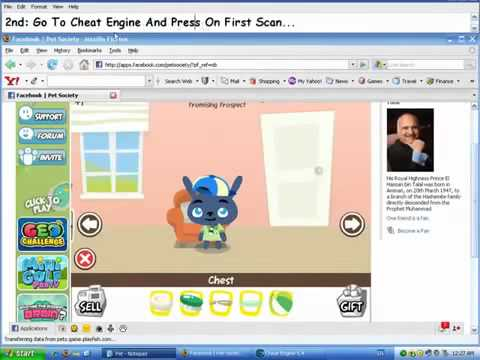 Pet Society Hack Cheat Engine 6.1 2012 + Download + Free + Working !! | PopScreen