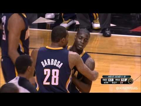 Dwyane Wade Flagrant on Collison Heat vs Pacers Game 2 HD | PopScreen